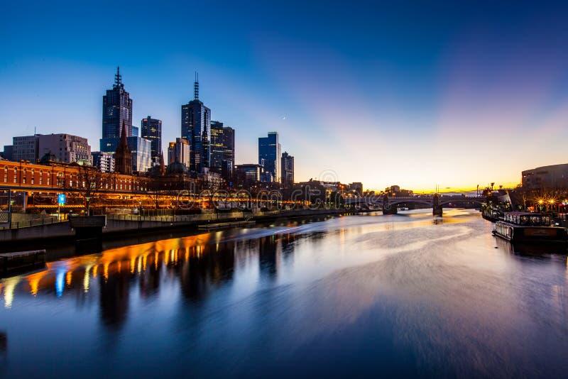 Wereld ` s de meeste leefbare stad - Melbourne, Australië stock foto