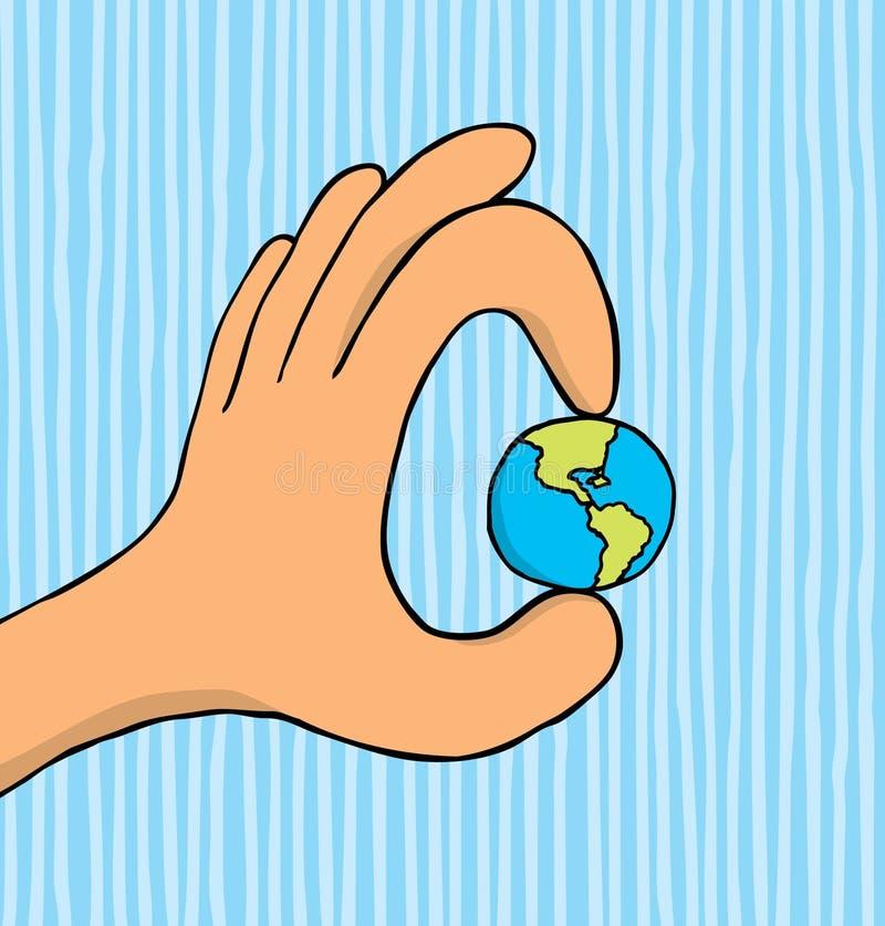 Wereld in uw hand vector illustratie