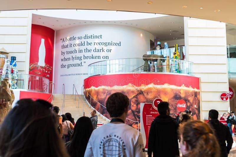 Wereld van Coca-colamuseum in Atlanta Georgië de V.S. stock afbeelding