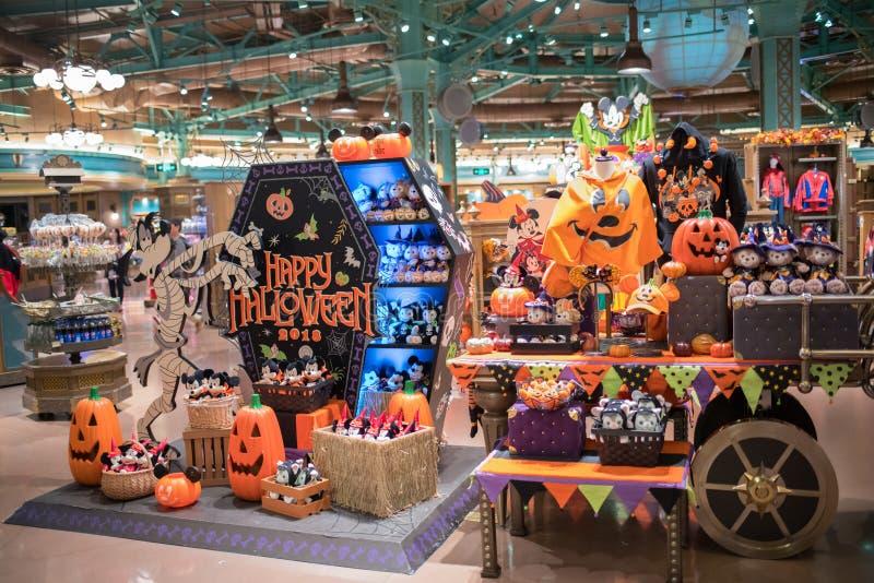 Wereld van Disney-opslag in Shanghai Disneyland in Shanghai, China stock foto