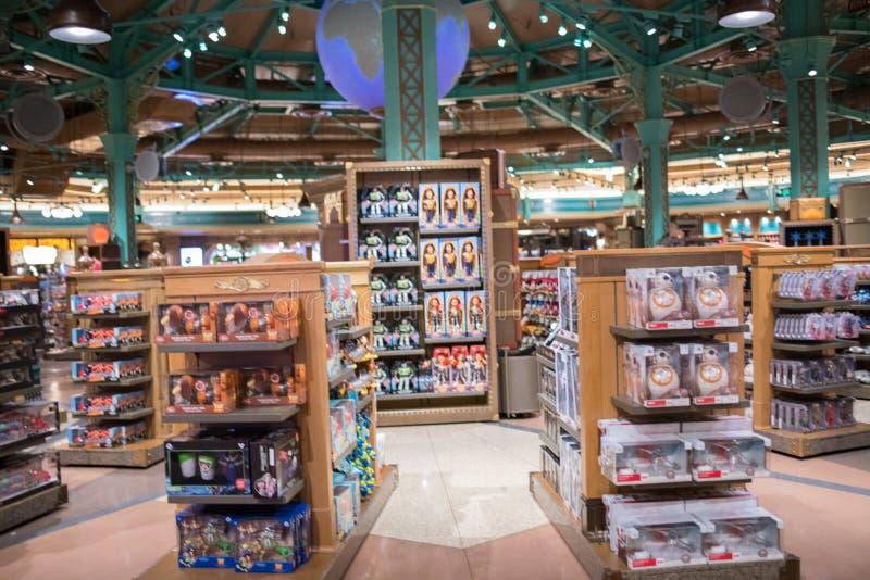 Wereld van Disney-opslag in Shanghai Disneyland in Shanghai, China stock fotografie