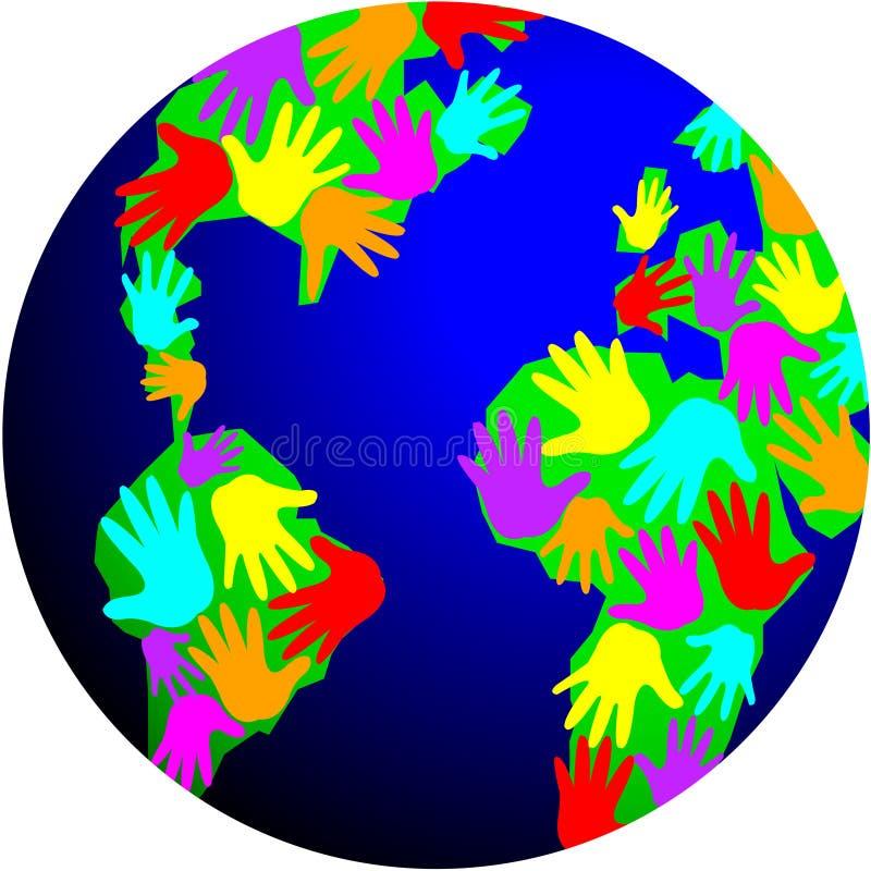 Wereld van Diversiteit stock illustratie