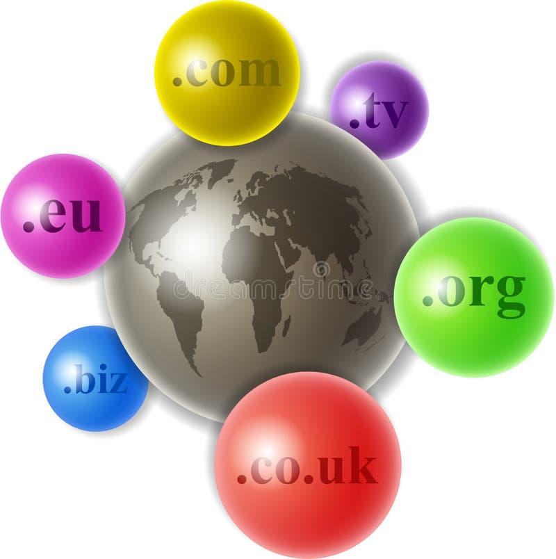 Wereld van domeinen stock illustratie