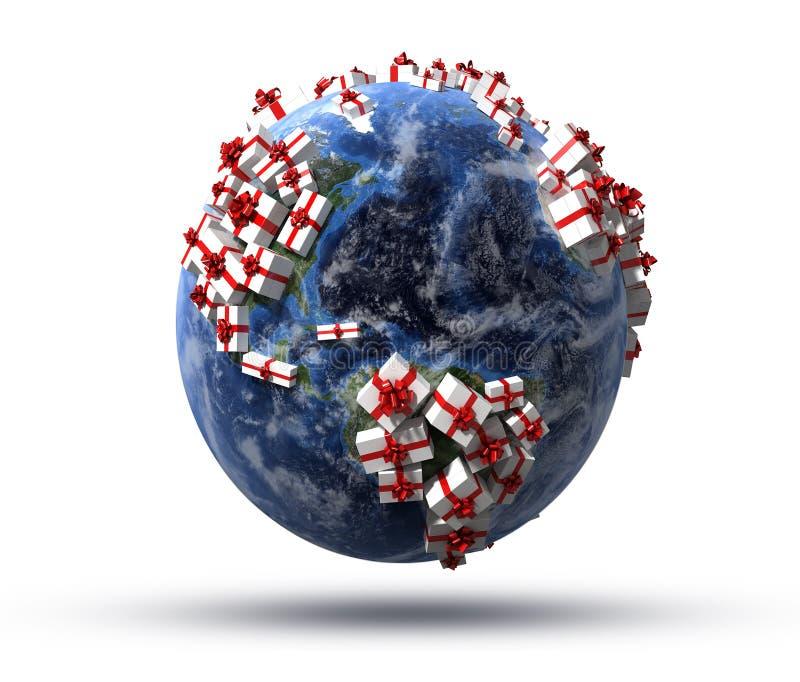 Wereld van giften vector illustratie