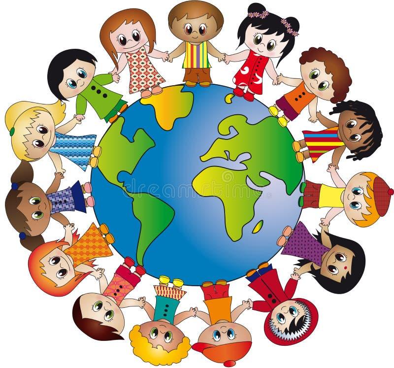 Wereld van kinderen stock illustratie