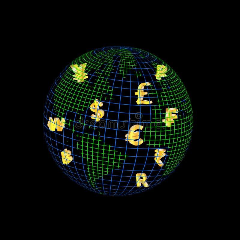 Wereld van munt stock afbeeldingen