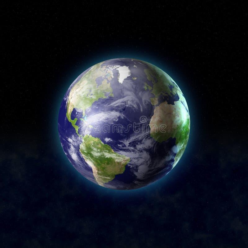 Wereld van ruimte stock illustratie