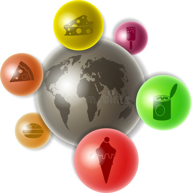 Wereld van voedsel vector illustratie