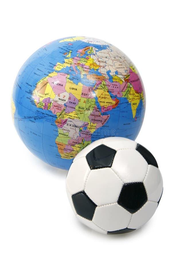 Wereld van voetbal stock foto's