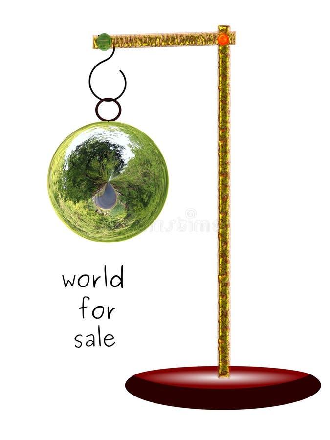 Wereld voor verkoop royalty-vrije stock fotografie