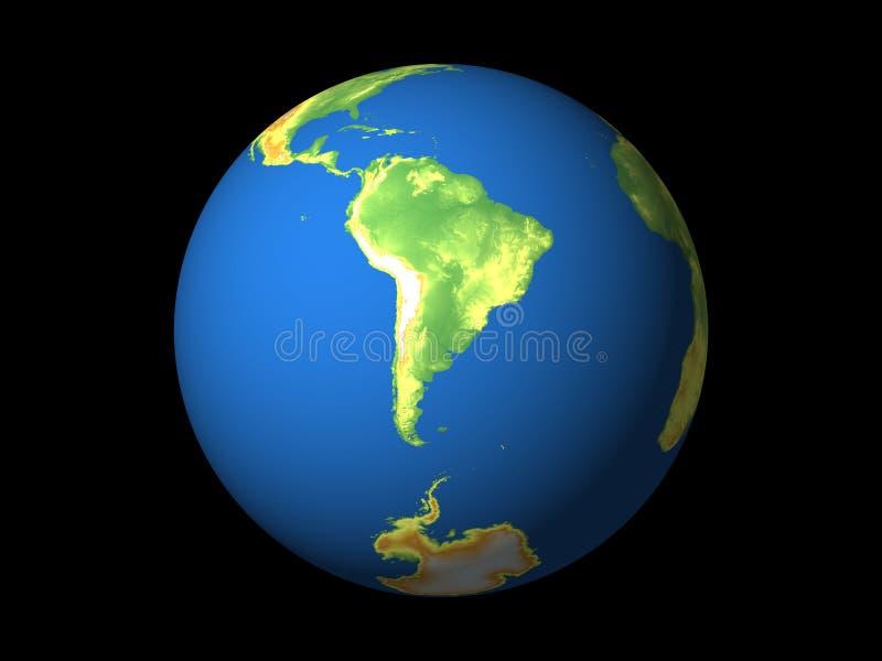 Wereld, Zuid-Amerika royalty-vrije illustratie
