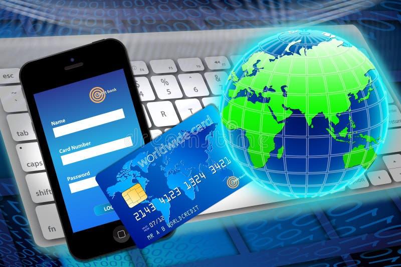 Wereldbankwezen en financiën stock illustratie