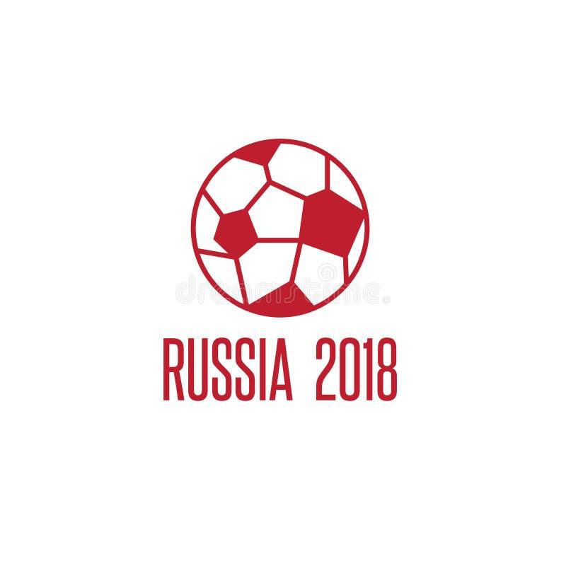 Wereldbeker in de vectorillustratie van Rusland met bal vector illustratie