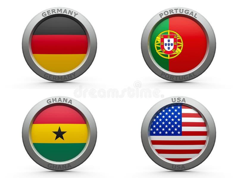 Wereldbeker 2014 Groep G van Brazilië royalty-vrije illustratie