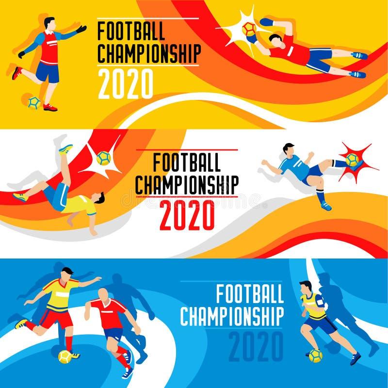2020 Wereldbekersamenstelling vector illustratie