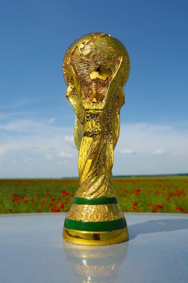Wereldbekertrofee royalty-vrije stock afbeeldingen