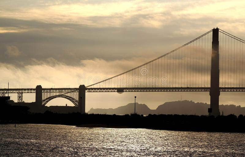 Wereldberoemd Golden gate bridge in San Francisco royalty-vrije stock foto's