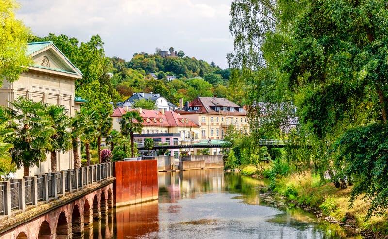 Wereldberoemd kuuroord Slechte Kissingen, Duitsland stock foto's