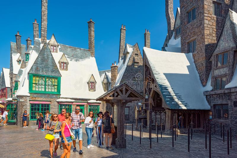 Wereldberoemd park Universal Studios in Hollywood royalty-vrije stock fotografie