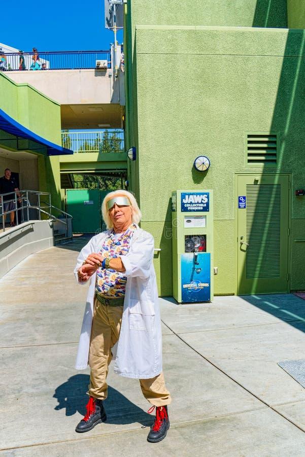Wereldberoemd park Universal Studios in Hollywood stock afbeelding