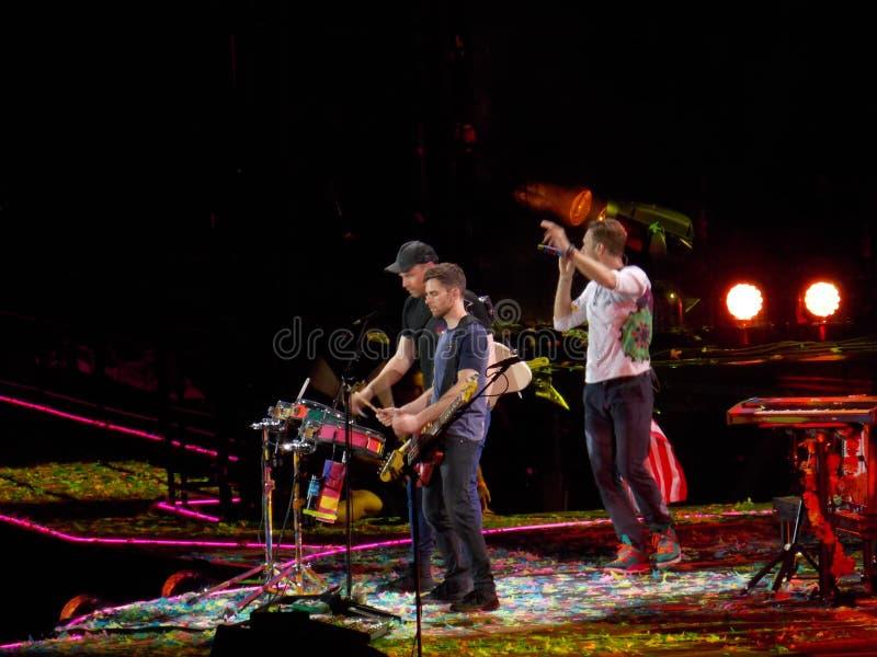 Wereldberoemde Band Coldplay in Overleg royalty-vrije stock afbeelding