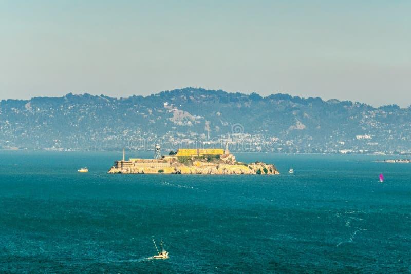 Wereldberoemde gevangenis Alcatraz San Francisco royalty-vrije stock afbeelding