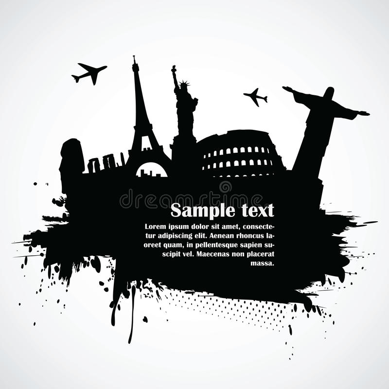 Wereldberoemde monumenten vector illustratie