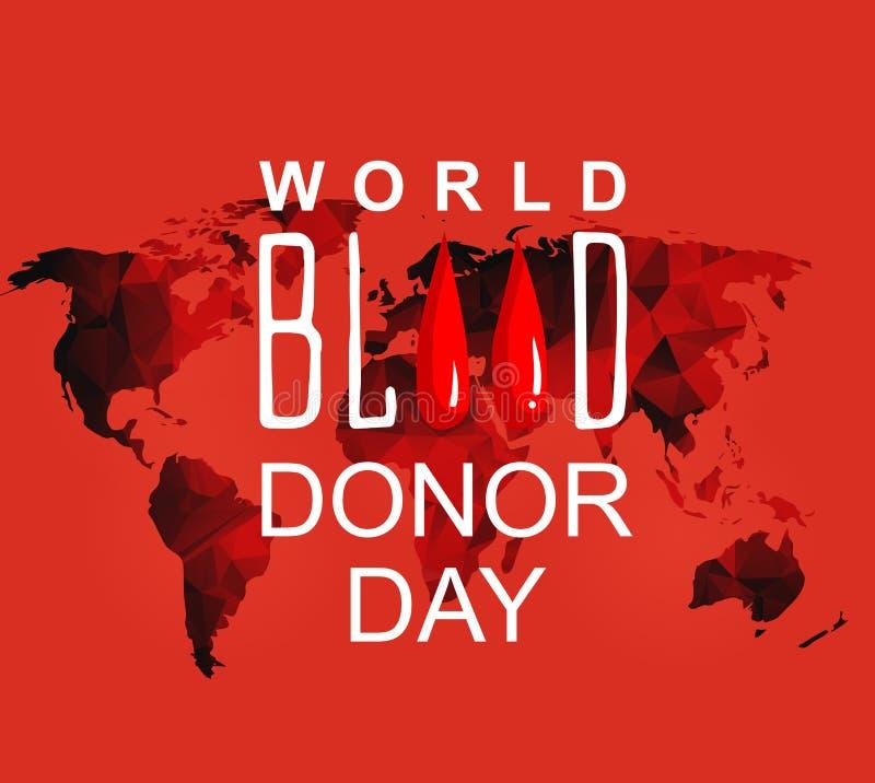 Wereldbloedgever 14 dag-juni Vector illustratie vector illustratie