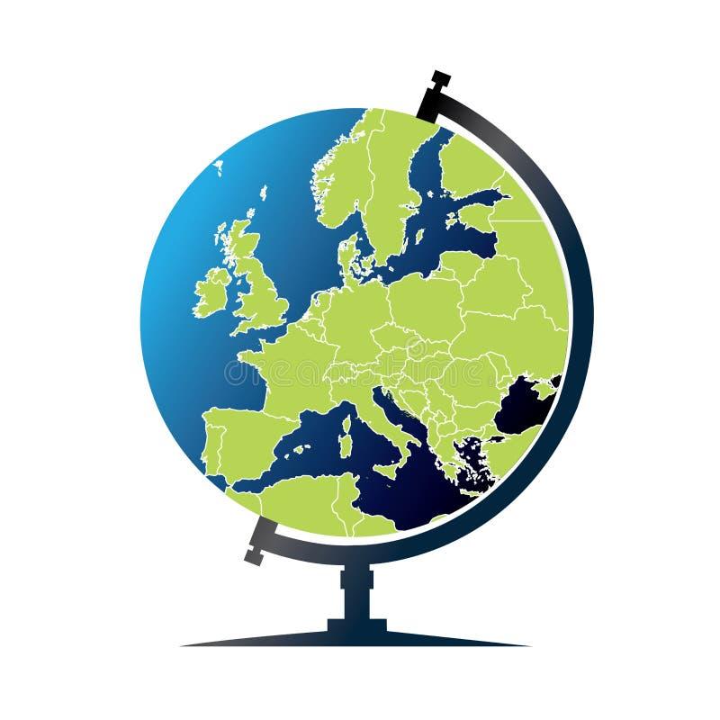 Wereldbol - Europa royalty-vrije illustratie