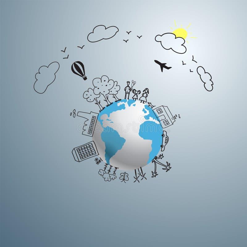 Wereldconcept vector illustratie