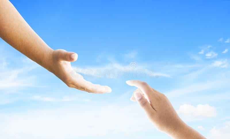 Werelddag van Herinnering: God ` die s hand helpen stock foto's