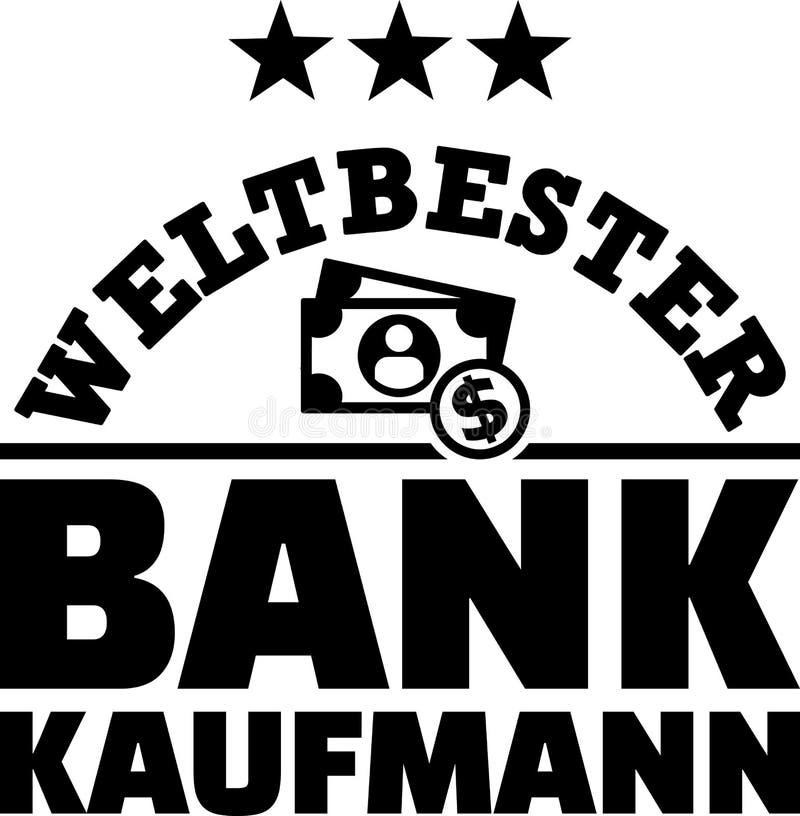 Werelden beste mannelijke bankier het Duits vector illustratie