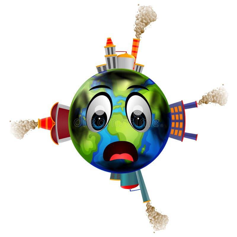 Wereldhoogtepunt van verontreiniging vector illustratie