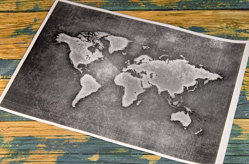 Wereldkaart royalty-vrije stock foto's