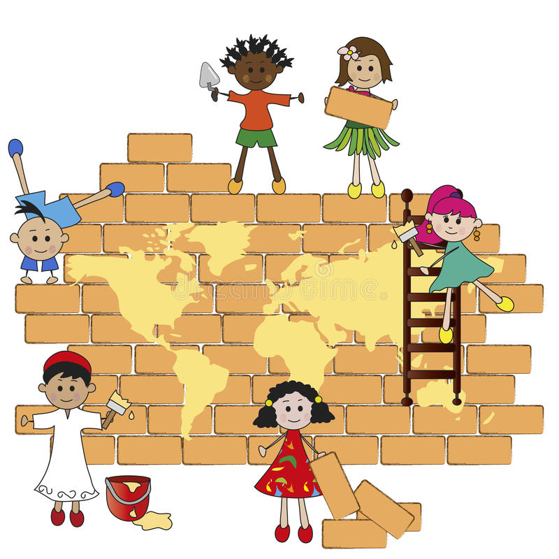 Wereldkinderen stock illustratie