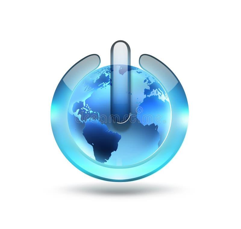 Wereldmachtknoop royalty-vrije illustratie