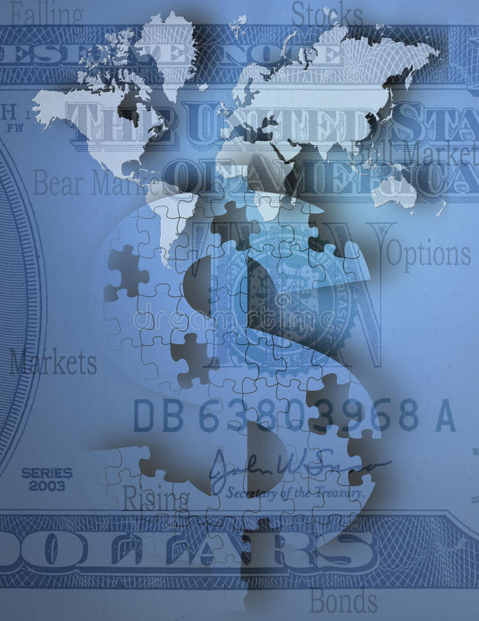 Wereldmarkten stock illustratie