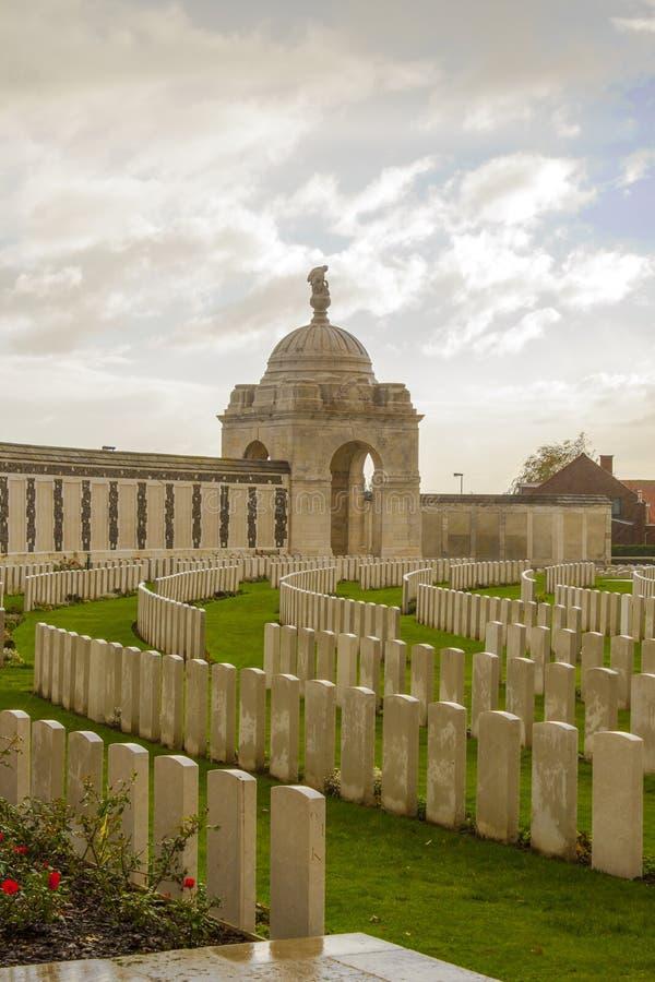Wereldoorlog één de wieg van de begraafplaatstyne in België Vlaanderen ypres royalty-vrije stock foto's