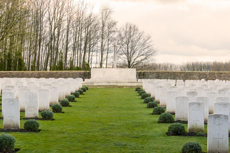 Wereldoorlog één Vlaanderen België van militairCemetery royalty-vrije stock foto's