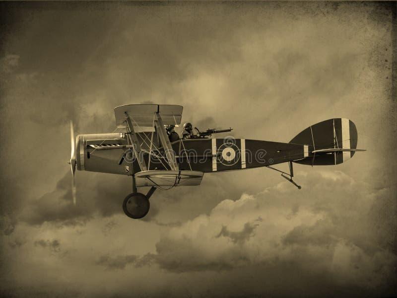 Wereldoorlog Één Vliegtuigen stock afbeeldingen