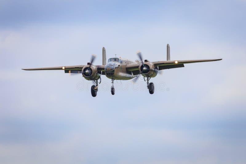 Wereldoorlog 2 bommenwerper B-25 royalty-vrije stock afbeelding