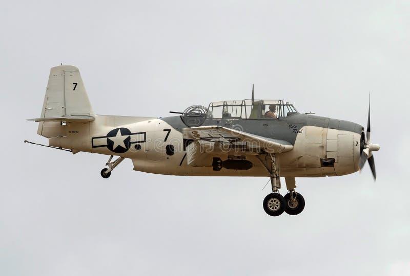 Wereldoorlog 2 de uitstekende Wreker van warbird 1945 Grumman tbm-3E royalty-vrije stock foto