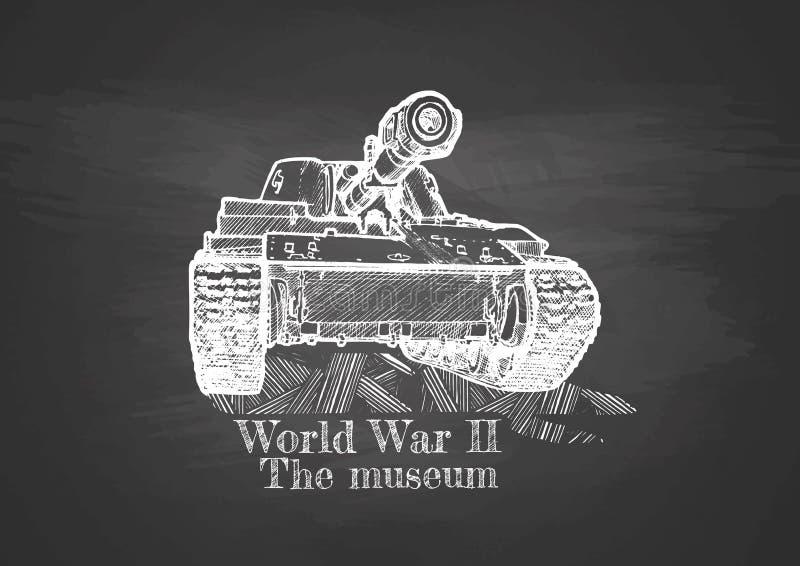 Wereldoorlog II stock illustratie