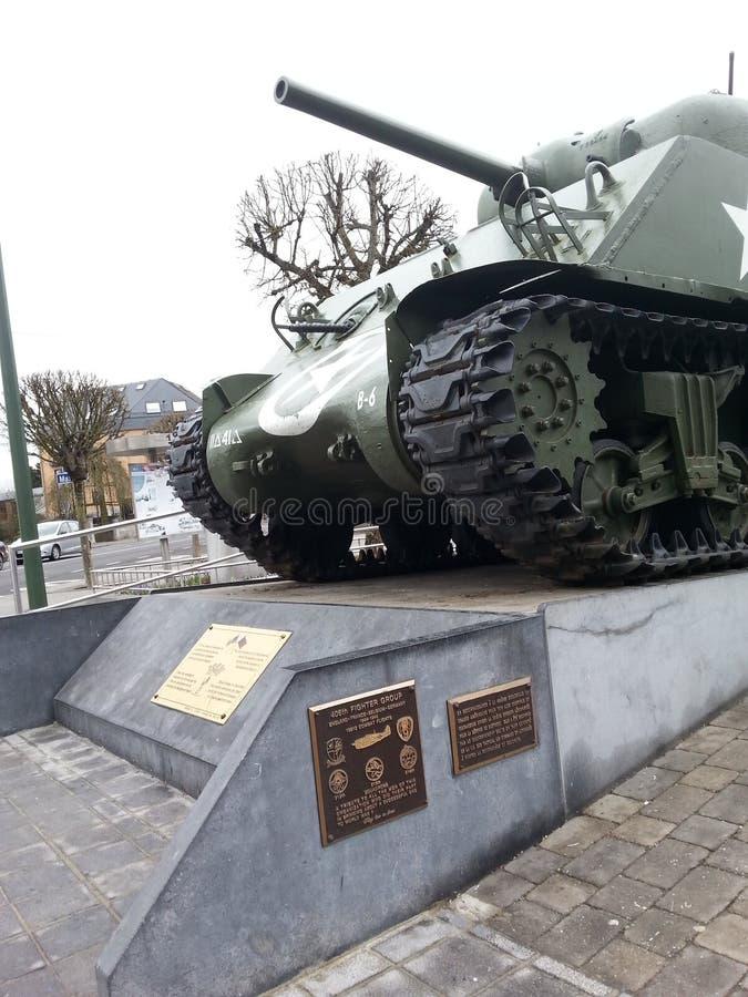 Wereldoorlog ll Bastogne stock fotografie