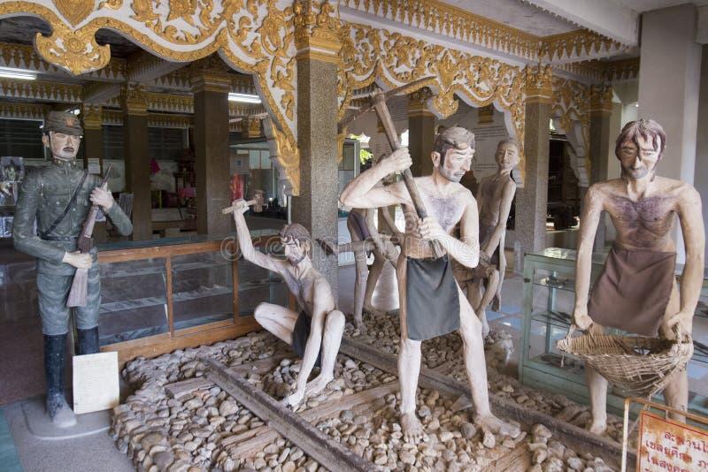WERELDOORLOG 2 VAN THAILAND KANCHANABURI MUSEUM stock afbeeldingen