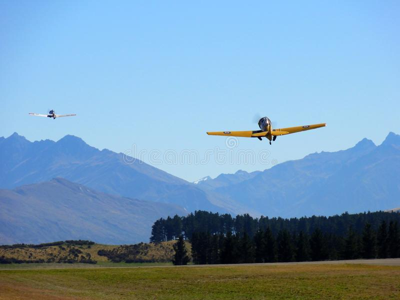 Wereldoorlog 2 vliegtuigen stock foto