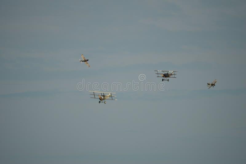 4 wereldoorlogvliegtuigen stock afbeelding