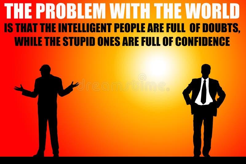 Wereldprobleem vector illustratie