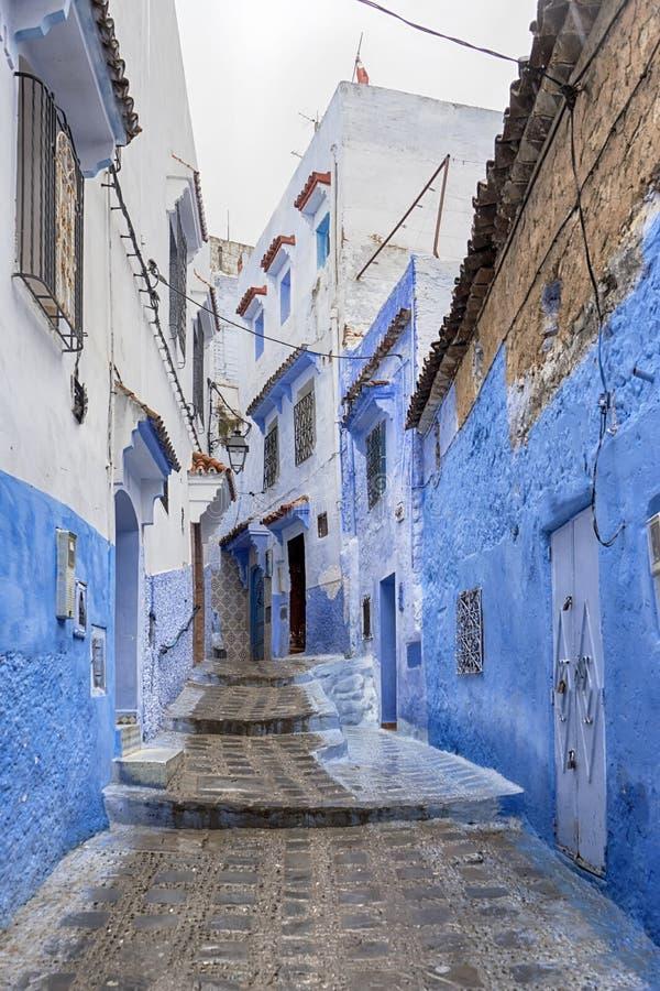 Wereldsteden, Chefchaouen in Marokko stock afbeelding