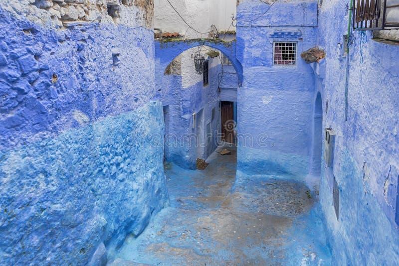 Wereldsteden, Chefchaouen in Marokko stock afbeeldingen